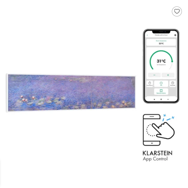 Air Art 350 W Wifi Smart infrapanel Water Lilies